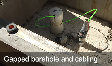 Capped borehole and cabling