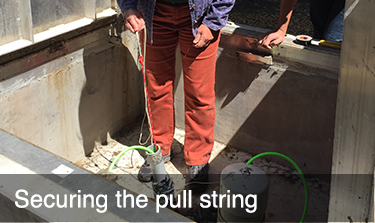 Securing the pull string