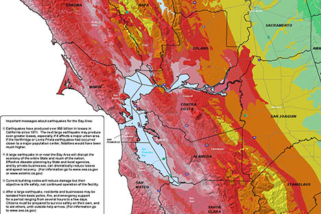 The Hayward Fault Maps And Tours - Hayward fault line map