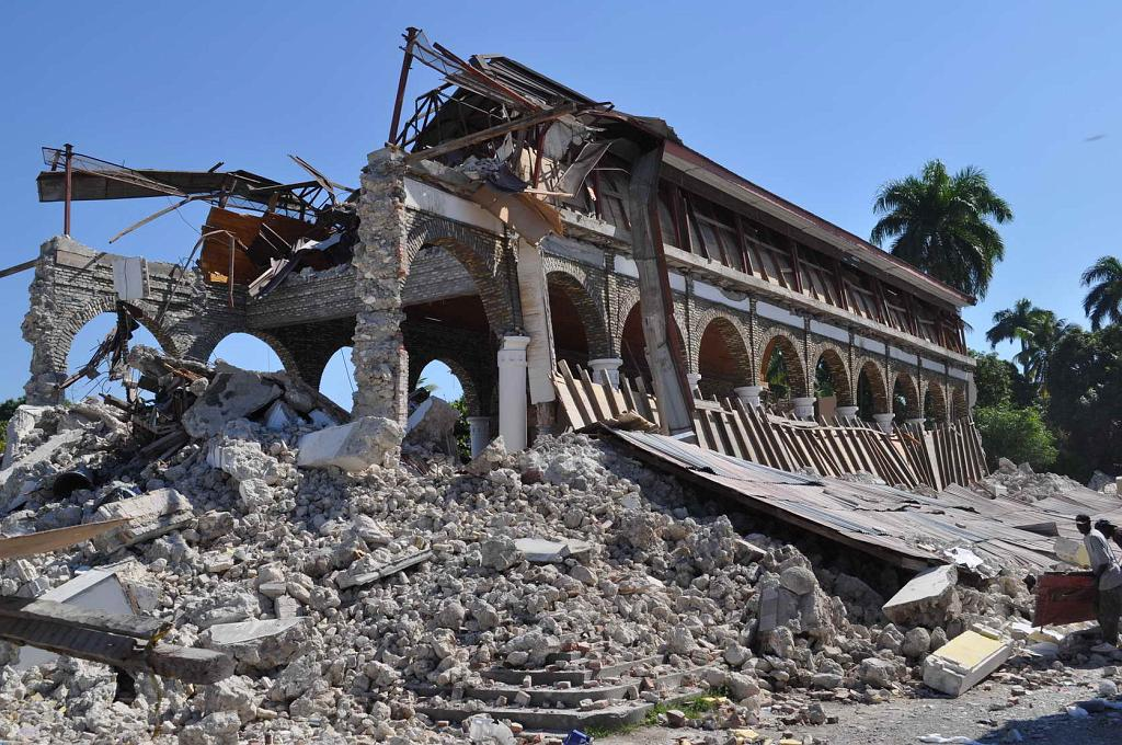 The Cathedral at Leogane after the earthquake (photo by Eduardo Fierro).