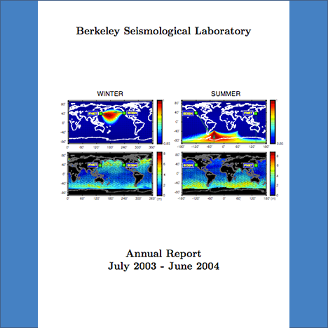 Cover image of 2003-2004 Annual Report
