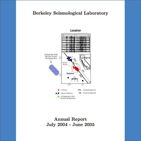 Cover image of 2004-2005 Annual Report