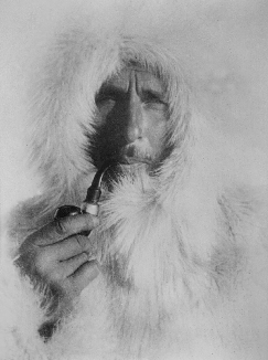 Alfred Wegener in his later years during an expedition to Greenland