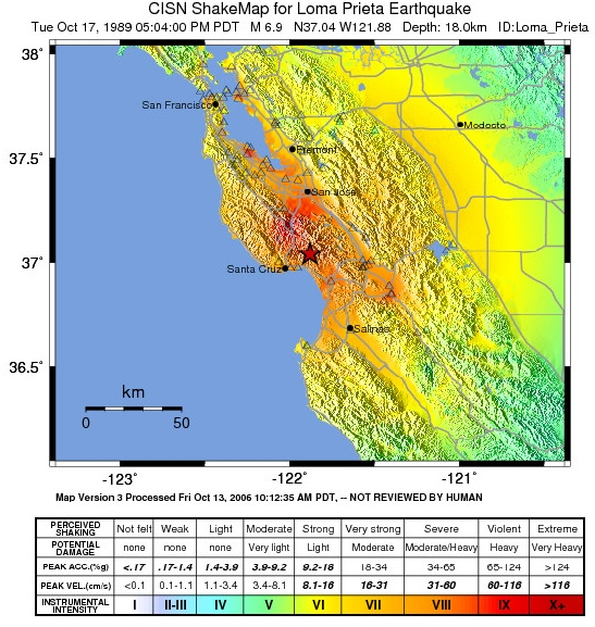 Today In Earthquake History Loma Prieta 1989