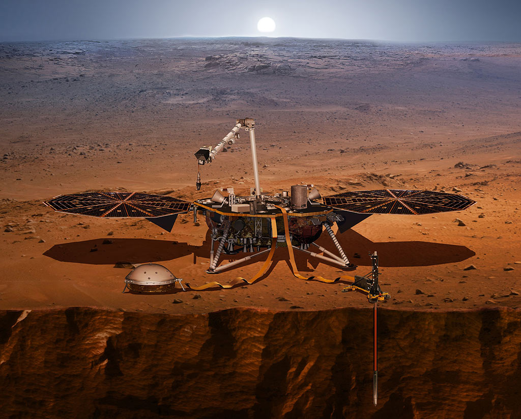 Artist's rendering of the Mars Insight Lander