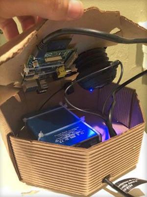 Josh Bloom's prototype EEW device.