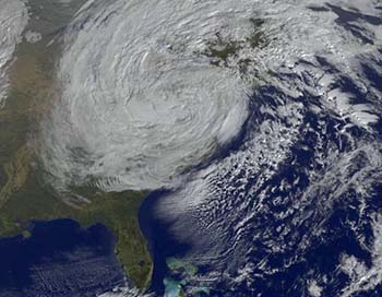 satellite images of hurricane sandy