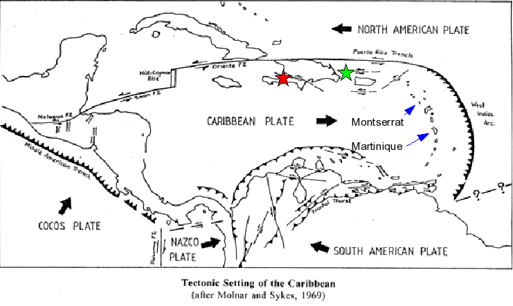 Tectonics of the Caribbean Region.