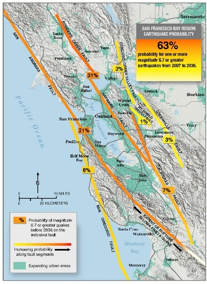Bay Area Earthquake Probabilities Map.