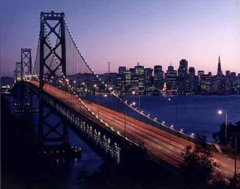San Francisco-Oakland Bay Bridge<br>Courtesy of Caltrans