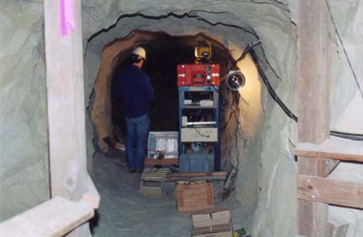 Mine tunnel at BDM