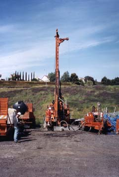 Caltrans drill rig at HERB