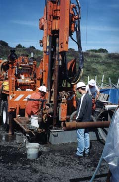 Drilling the HERB borehole