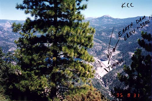 View toward Mammoth Pool and KCC