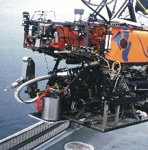 ROV being deployed to MOBB