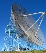 View of the Stanford big dish<br>Courtesy of the Radio Science Group