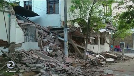Photo of destruction in recent Mexico quake