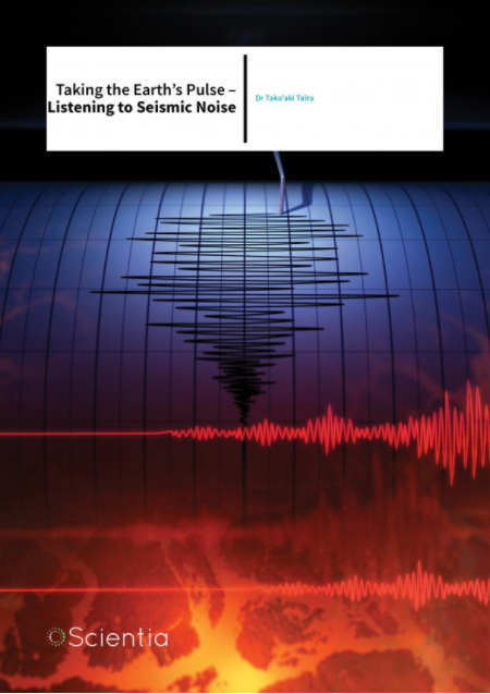 Article photo showing animated seismogram