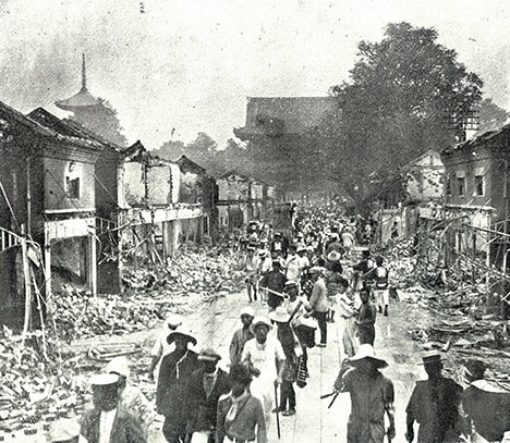 Damage from Great Kanto earthquake
