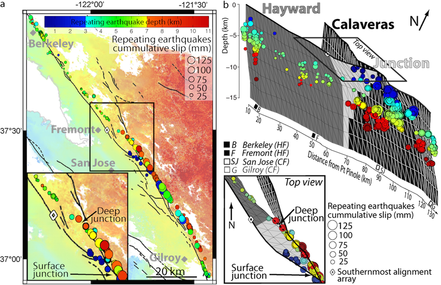potential for larger earthquakes in the san francisco bay area due to the direct connection between the hayward and calaveras faults