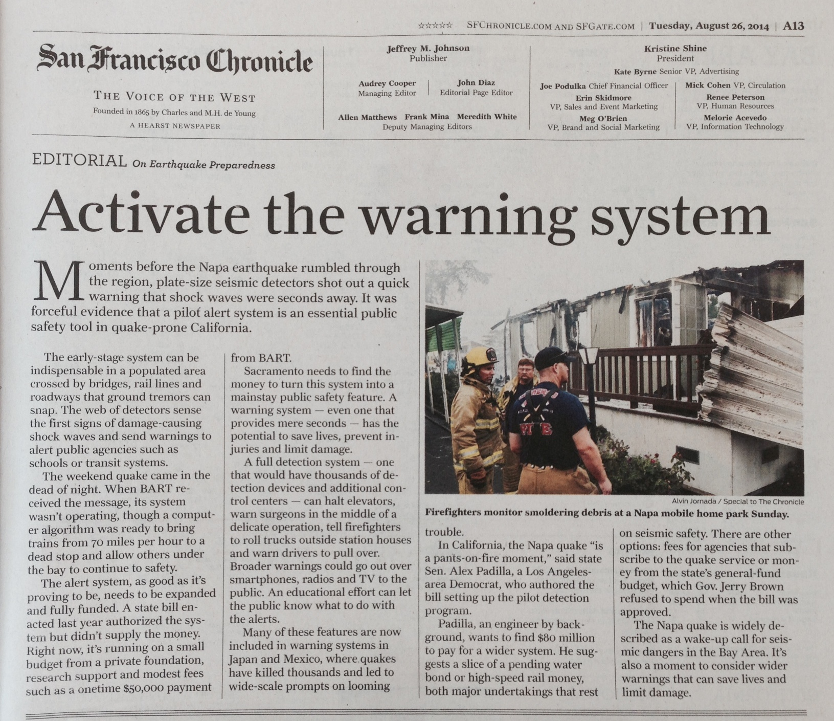 Media Coverage Highlights Richard M Allen California Earthquakes 1 Turn Off Gas