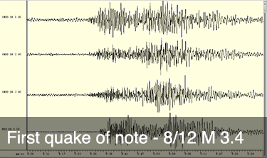 First quake of note - M 3.4 8/12