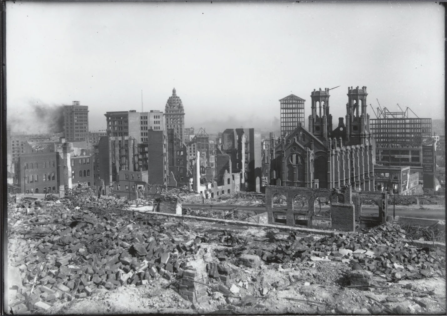 1906 photo of the destruction caused by the 1906 quake and fire