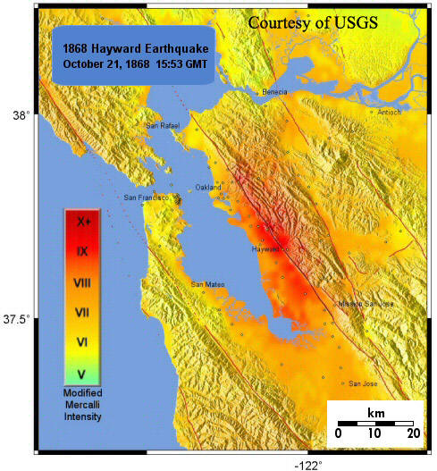 The Hayward Fault: Maps and Tours on