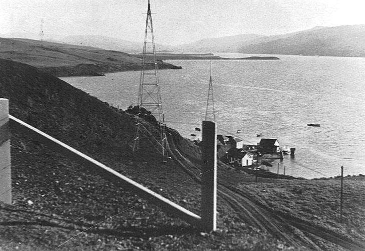 Marconi's receiving towers<br>Courtesy of the Marconi Conference Center
