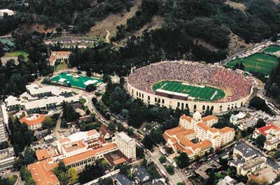 Aerial photograph of Cal Memorial Stadium <br>Courtesy of the Department of Recreational Sports