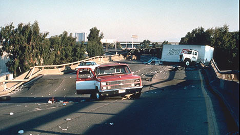 Damage from Loma Prieta earthquake