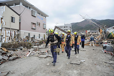 Damage from Tohoku earthquake